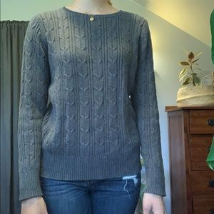St. John's Bay Quilted Grey Sweater